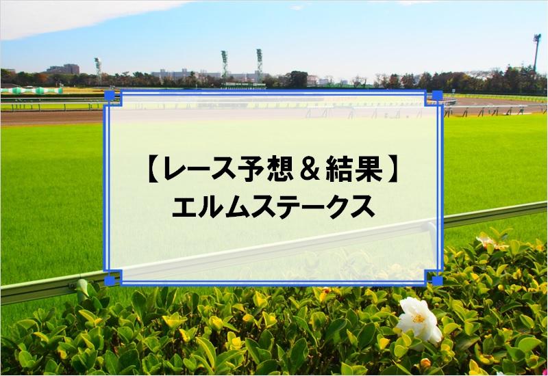 「エルムステークス 2019」の予想と結果