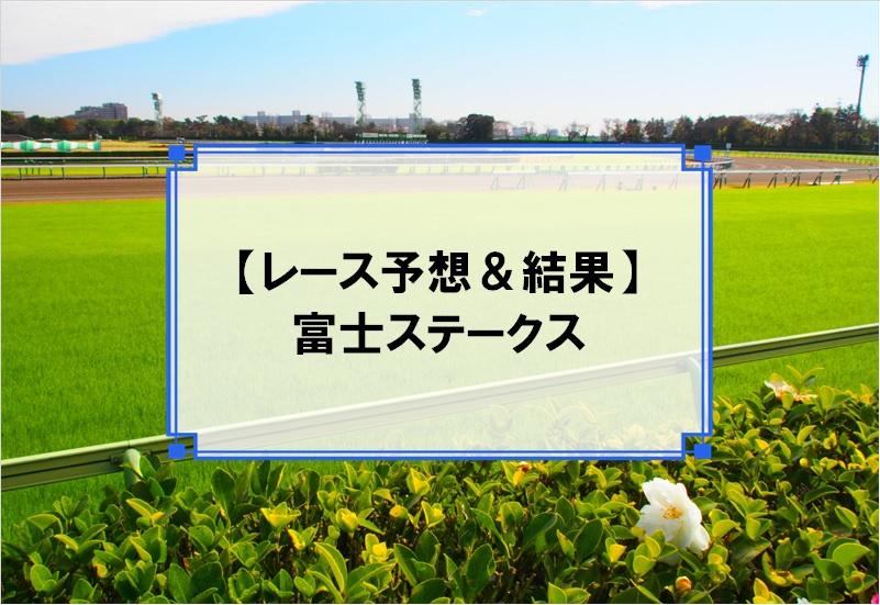 「富士ステークス 2019」の予想と結果