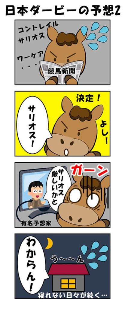 【漫画】日本ダービーの予想2
