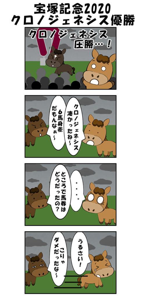 【漫画】宝塚記念2020クロノジェネシス優勝
